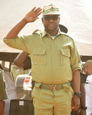Pictures Of Niger State Governor, Sanni Bello Fully Garbed In NYSC Kit Surfaces