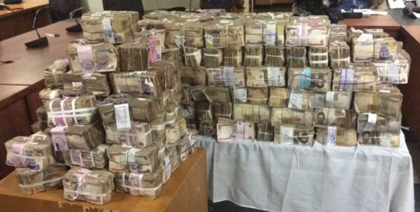 Rivers Rerun: Pictures Of N111m Bribe Recovered By Nigerian Police From Corrupt INEC Officials