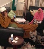 Check Out Picture Of President Buhari and Daughter, Hadiza In London