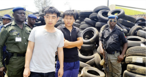 See Faces Of The Two Chinese Men Arrested For Allegedly Importing Fake Tyres Worth N5bn Into Nigeria