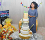 Bishop Oyedepo's Wife, Faith Oyedepo Stuns In Gorgeous Outfit At 56th Birthday Celebration