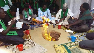PHOTOS: Shiites Hold Intense Spiritual Ritual To Hasten Buhari's Death As He Continues Medical Leave