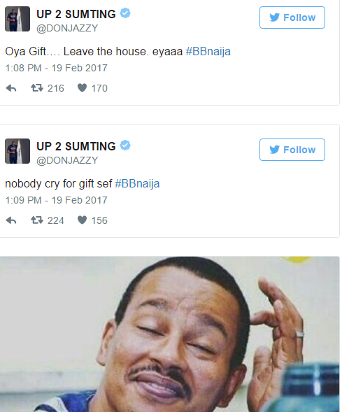 See The Hilarious Celebrations That Trailed Gifty's Eviction Form #BBNaija