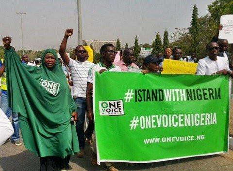 Anti-Govt Protesters Storm Aso Rock [Photos]