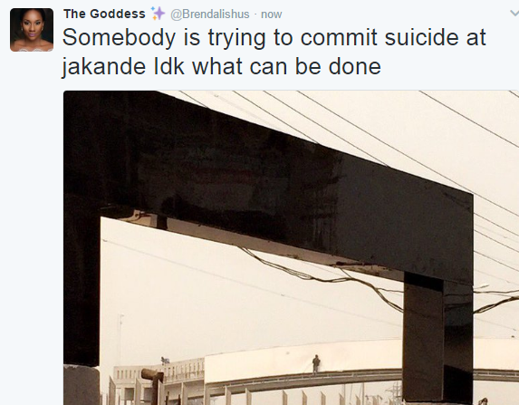BREAKING: Man Attempts TO Commit Suicide By Jumping Off Jakande Bridge