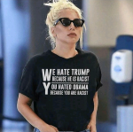 Lady Gaga Sports Tshirt Inscribed With Powerful Statement About Donald Trump