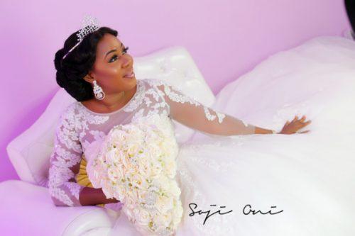 Popular Yoruba Actress, Liz Da Silva Wows In Bridal Photoshoot [Photos]