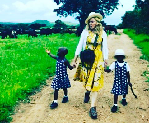 Madonna Shares Clip Of Reformed Malawian Twins Whom She Recently Adopted Singing Nursery Rhymes