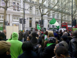 Photos: UK Based Nigerians Storm Nigerian High Commission In Droves, Demand To See Buhari