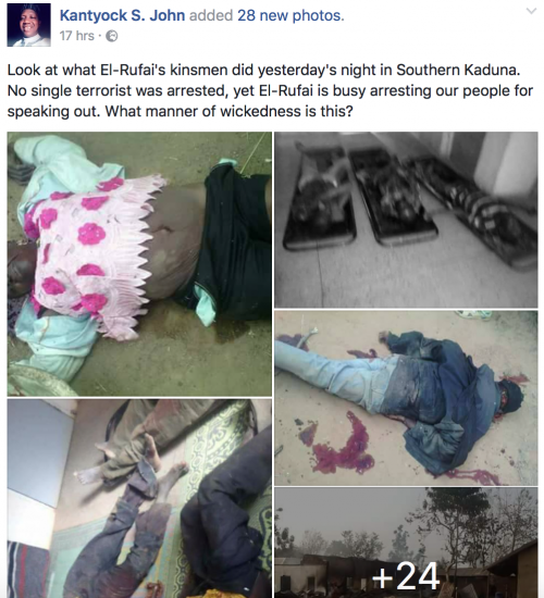 GRAPIC PHOTOS: See What Fulani Herdsmen Allegedly Did To People In Kaduna Yesterday