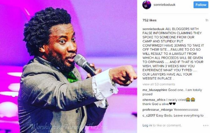 Gospel Singer, Sonnie Badu Debunks Death Rumors, Wishes Death On Haters