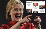 LOL! Fake News Website Where Americans Pretend Hilary Clinton Won The Election Surfaces