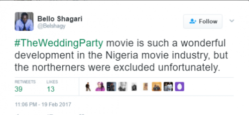 Nigerians React As Northern Filmmaker Claims Northerners Were intentionally Excluded From Wedding Party