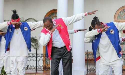Kenyans Go Ballistic On President, Kenyatta For Dabbing Despite Ongoing Health Crisis In Country