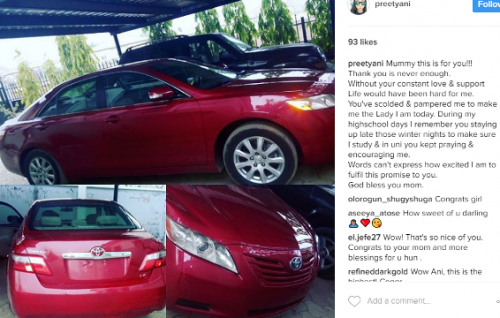Lady Surprises Mom With Brand New Car 4 Years After Jokingly Promising To Buy Her One
