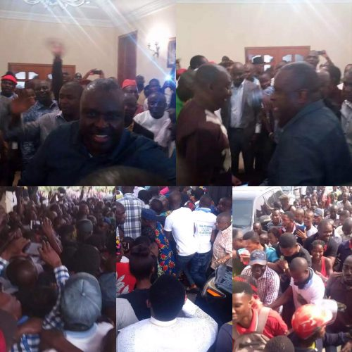 Breaking: Mamoth Crowd To Welcomes Former Delta Governor James Ibori As He Arrives Oghara, Delta state (Photos)