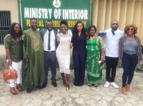 It's Legal! First Photo Of Yvonne Jegede And Kunle Fawole's Court Wedding