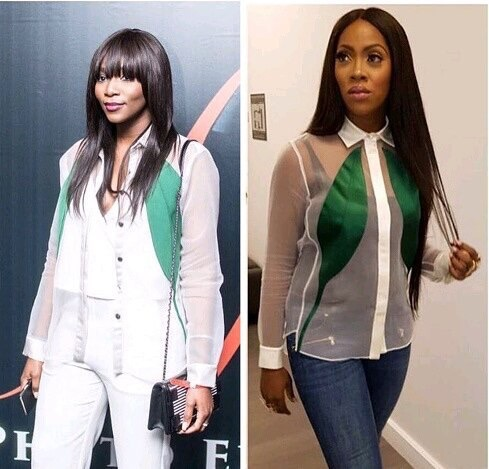 Who Wore It Better: Tiwa Savage Vs Genevieve In Sheer Shirt