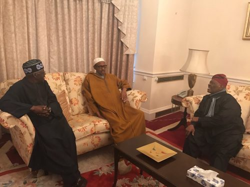 Presidency Releases Photo Of President Buhari Meeting With APC Party Leaders, Nigerians React