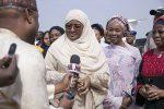 President's Wife Aisha Buhari Returns From Lesser Hajj