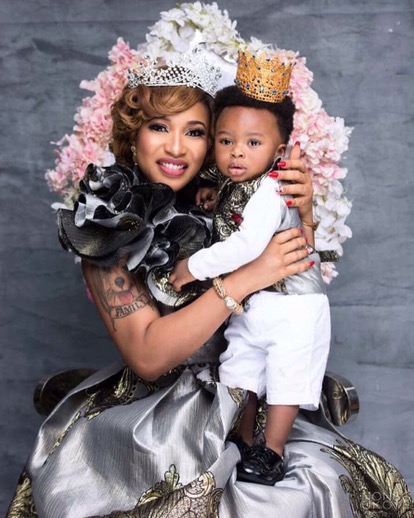Tonto Dike Releases Beautiful New Photos To Celebrate Her Son King's First Birthday