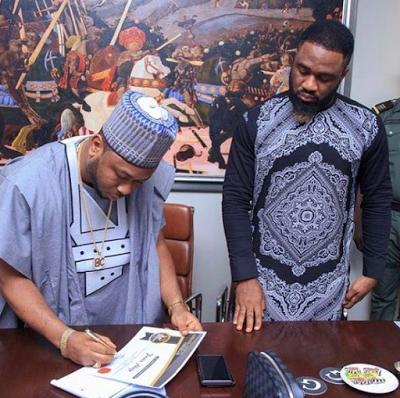 Tonto Dikeh's Husband, Churchill Signs Praiz As Brand Ambassador Of His Organization