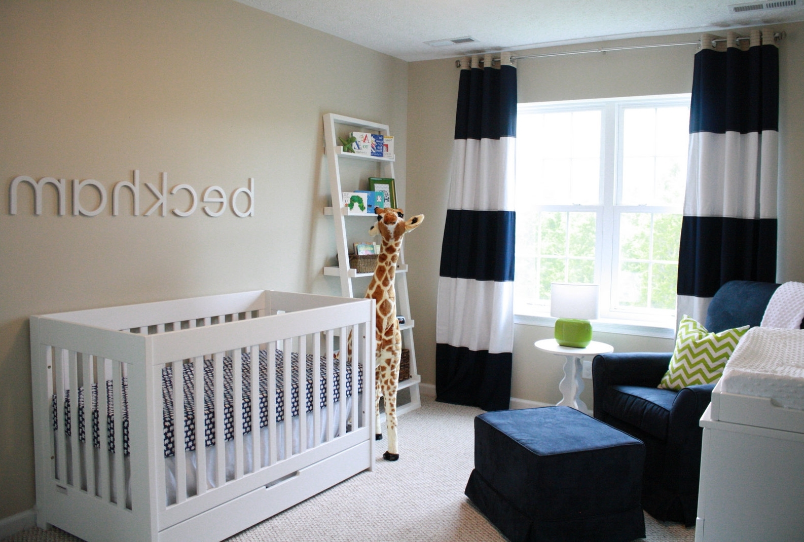 Simple baby boy nursery ideas thenurseries for Simple nursery design