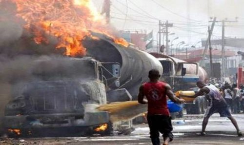 Petrol Tanker Explosion In Lagos Leaves 2 Dead And Several Cars Destroyed