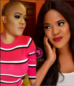 Toyin Aimakhu Is All Shades Of Glam In Bald Valentine Day Look