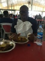 Fayose Spotted Again At a 'Buka' Wolfing Down Amala And Gbegiri To The Amazement Of Onlookers