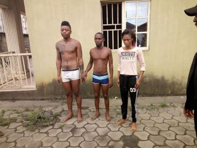 PHOTOS: Police Parades 3 Suspects Who Murdered and Dumped Jumia Delivery Man In Spetic Tank Over iPhone 7