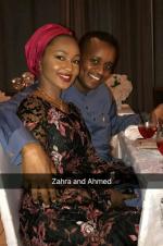 Zahra Buhari And Husband Spotted At Upscale Birthday Party