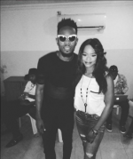 Olajumoke Orisaguna Pictured With Patoranking, Toofan As Rumors About a Mystery Project Gathers Pace