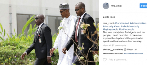 """""""The Love My Daddy Has For Nigeria …."""" – Zahra Buhari Gushes Over Dad As He Resumes Work Following Battle With Illness"""