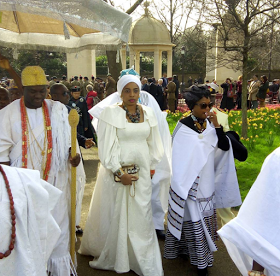 Ooni Of Ife and Wife Welcomed By Prince Charles & Duchess Of Cornwall In London [Photos]