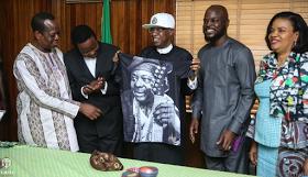 King Sunny Ade Pays Courtesy Visits To Fashola,  Lai Mohammed and Kayode Fayemi [Photos ]