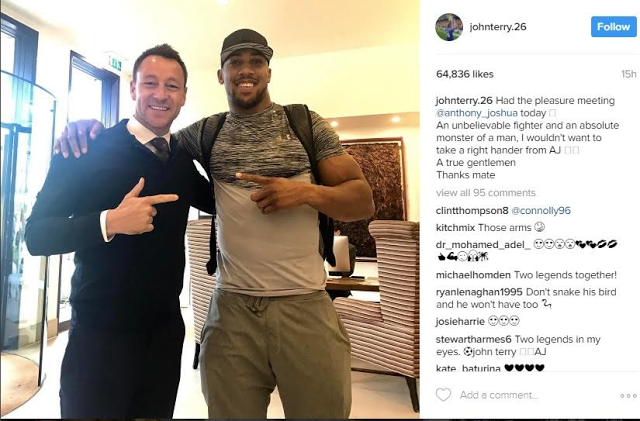 John Terry Meets Heavyweight Champ, Anthony Joshua