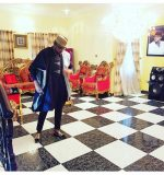 Kcee's Younger Brother, Emoney Shows Off Gold Plated Living Room