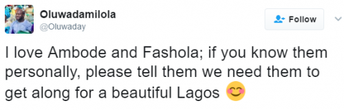 Nigerians React To 'Beef'Between Fashola and Ambode