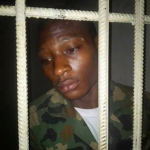 Jealous Boyfriend Who Killed Female Soldier Pictured Behind Bars, Says Killing Her Brought Him Prestige