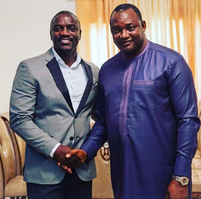 Photos: Akon Meets Gambia's New President, Adama Barrow