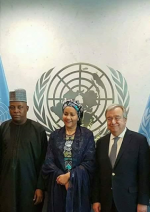 Former Nigeria Minister, Amina Mohammed Officially Sworn-in As UN Deputy Secretary General [Photos]