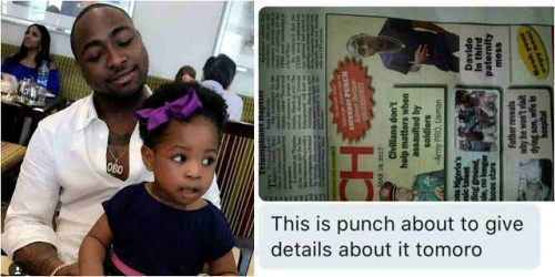 Davido Reacts To Third Baby Mama Mess, Threatens Punch Newspapers With Lawsuit