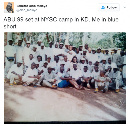 Dino Melaye Shoots Down False Report, Shares Photos from his NYSC Days in Kaduna