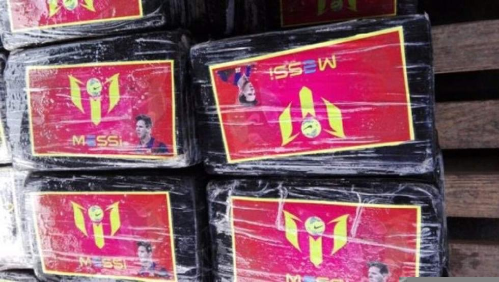 BUST: How Police Seized $91 Million Worth Of Cocaine Branded In Lionel Messi's Name And Face