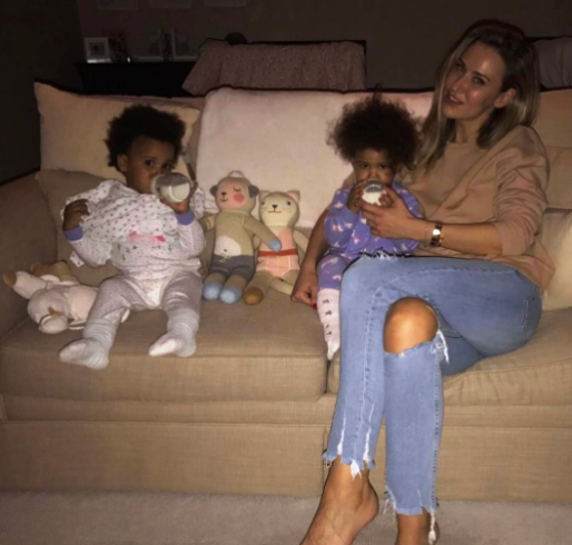 Mikel Obi Shares Adorable Picture Of His Twin Girls And Wife