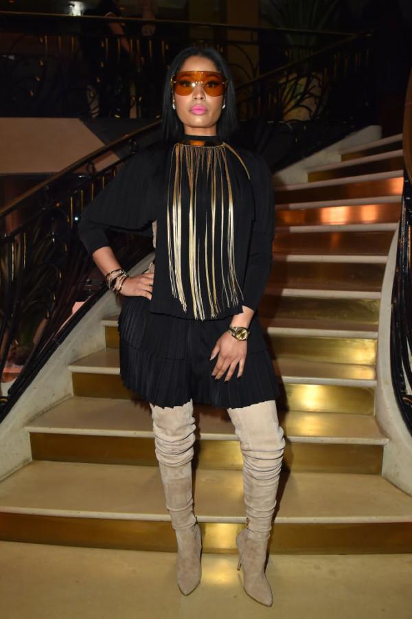 Nicki Minaj Fashion Week Rick Owens