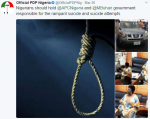 Buhari & APC To Blame For Increased Rate Of Suicide and Suicide Attempts – PDP