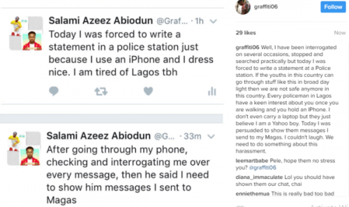Instagram User Narrates Embarassing Ordeal With Policemen After Being Arrested Because He Uses an iPhone