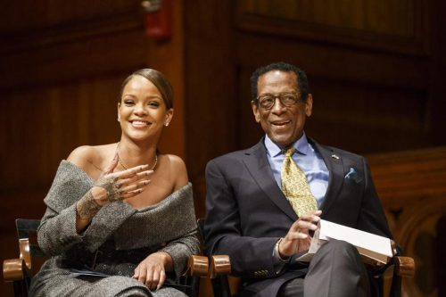 Watch As Rihanna Accepts 'Humanitarian Of The Year' Accolade From Harvard University [Clip]